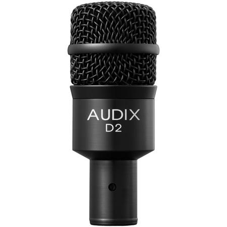 Audix D2 Hypercardioid Dynamic Instrument Microphone - 68 Hz-18 kHz