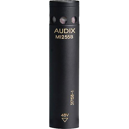 Audix M1255B-HC Miniaturized High Output Condenser Microphone for Distance Miking - w/Hypercardioid Capsule Black
