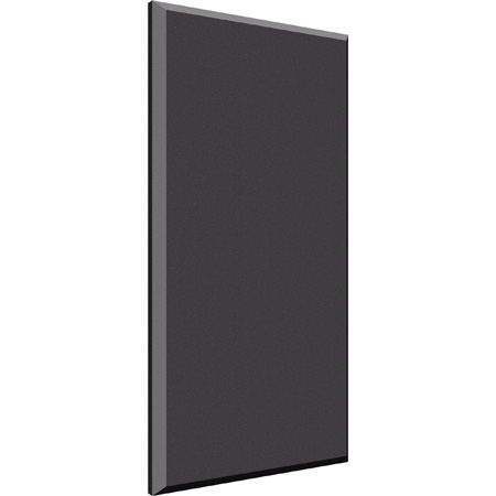 Auralex B224ONY 2 Inch x 2ft x 4ft Beveled Wall ProPanel - Impaling Clips Included - Color - ONYX
