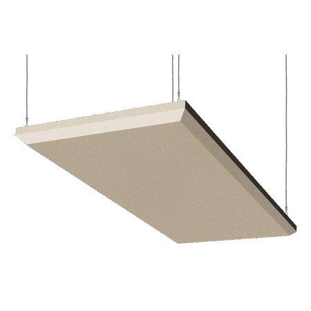 Auralex B224SST-C - 2 Inch x 2ft x 4ft Beveled Ceiling ProPanel Cloud - Anchors Included - Sandstone