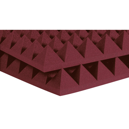 Auralex 24x24x2 Inch Studiofoam-22 Pyramids (Burgundy) 12pk
