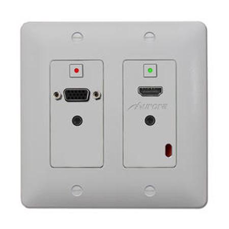 Aurora DXW-2-S1-W 2-gang Wall Plate & Receiver w/ 1-HDMI/DVI