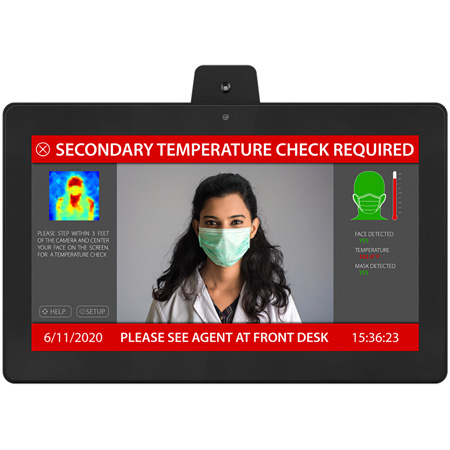 Aurora TTS-15 15.6 Inch All-In-One Infrared TAURI Thermal Imaging & Temperature Sensing Camera and Monitor PPE