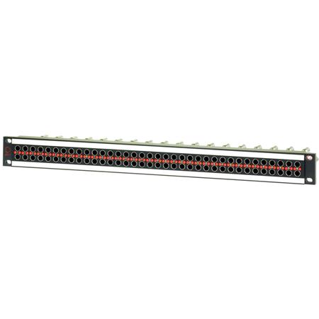 AVP AV-D236E1-AMN75-BZ 2x36 Panel - 1RU Panel - Normaled Terminating Front-Mount Midsize Dual Video Jacks - No Cable Bar