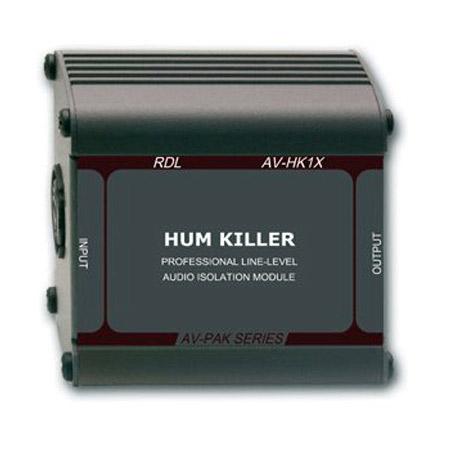RDL AV-HK1X HUM KILLER Audio Isolation Transformer XLR Input/Output