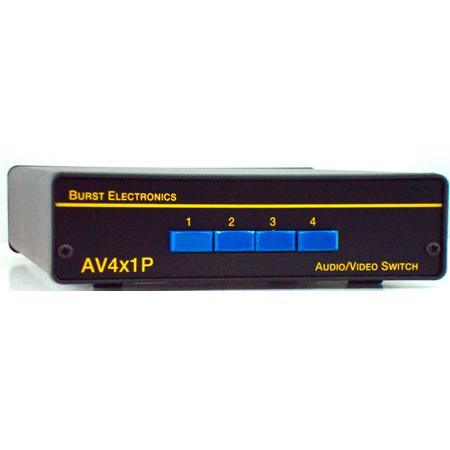 Burst AV4X1P 4x1 Video/Audio Passive Switcher