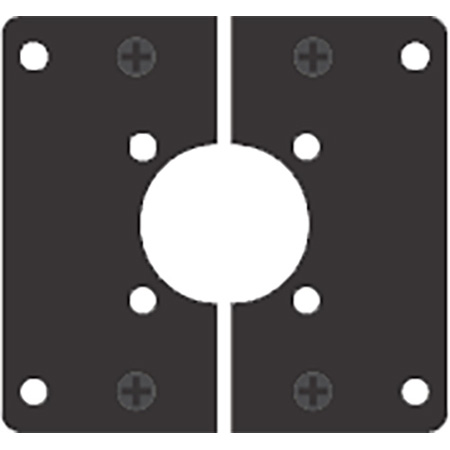 AVP MB6SP-RM04 Modular Bulkhead Adapter Plate for Canare CC-F and CC-K Series