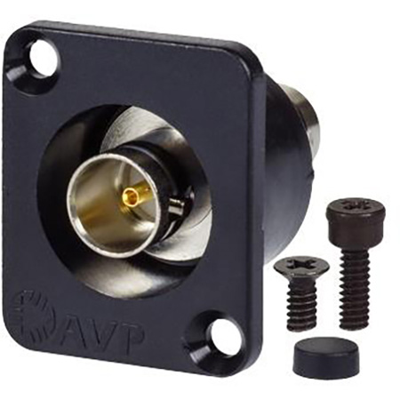 AVP UMJJ200R Maxxum BNC Feedthru 12 GHz Semi-Recessed Black Chassis Adapter Plate(s) and/or Hardware MIS Color-Code