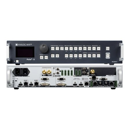Analog Way PLS350-H 8-Input Hi-Res Mixer & Seamless Switcher with 2 HDBaseT Inputs and 2 Mirrored HDMI / HDBaseT Outputs