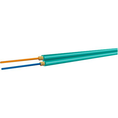 OCC AX002NALE9QR Duplex 10-Gig Multimode 50u OM4 Aqua Fiber Optic Cable - Per Foot