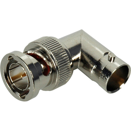 Connectronics B-BFRA 75 Ohm BNC Female to Male Right Angle Adapter