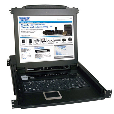 Tripp Lite B020-008-17 8-Port Console KVM Switch with 17 Inch LCD