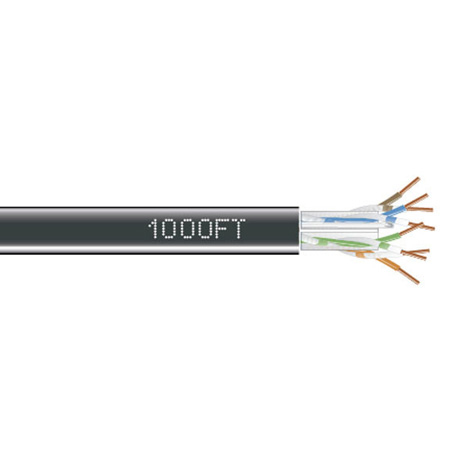 Black Box EYN880A-PB-1000  GigaTrue 550 CAT6 - 550-MHz Solid Bulk Cable - 4-Pair - Pull Box - 1000 Foot - Black
