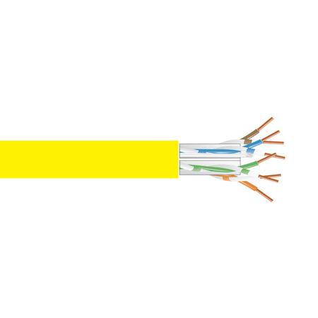 Black Box EYN872A-PB-1000 GigaTrue CAT6 550-MHz Solid Bulk Cable - PVC Yellow - 1000 Foot