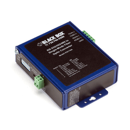 Black Box ICD116A Industrial Opto-Isolated Serial to Fiber Single-Mode SC Converter
