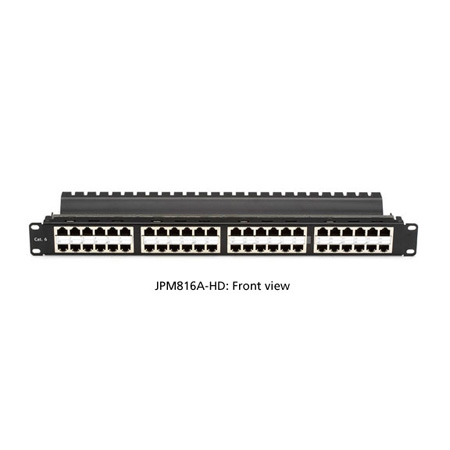 Black Box JPM816A-HD SpaceGAIN CAT6 High-Density Feed-Through Patch Panel