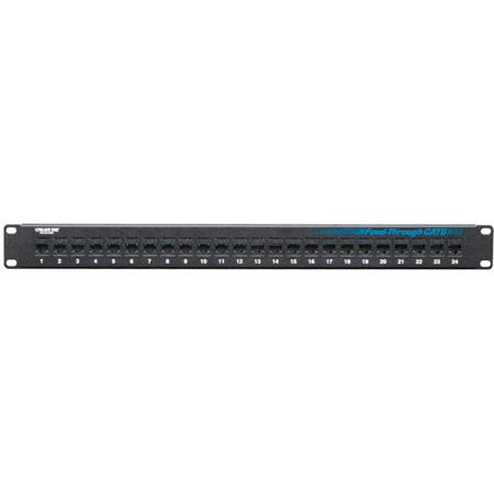 Black Box JPM818A CAT6 Patch Panel - Feed-Through 1U Unshielded 24-Port