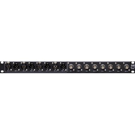 BDI DIP-100B75 Digital Audio Interface BNC 75 Ohm 19 Inch Panel - TASCAM to 4 XLR M/F and 4 75 Ohm BNC I/Os