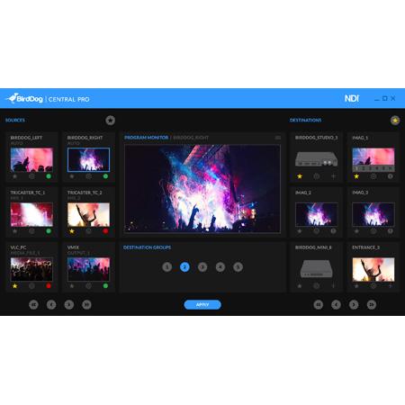 BirdDog BDCENTRALPRO Central Pro - Video Distribution and Routing Control Software Platform (Download)