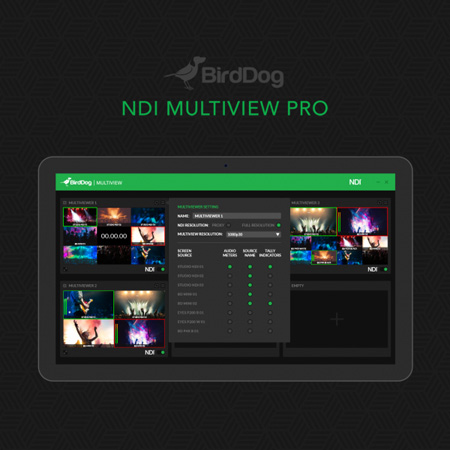 BirdDog BDMVPRO NDI Multiview Pro Streaming Software (Download)