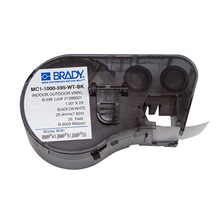 Brady MC1-1000-595-WT-BK BMP51/BMP53/BMP41 Label Maker Cartridge
