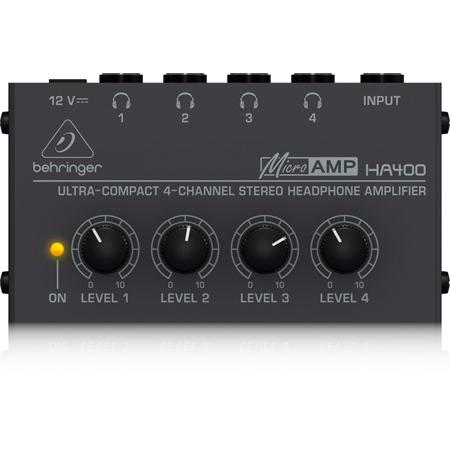 Behringer HA400 Microamp 4 Channel Stereo Headphone Amp