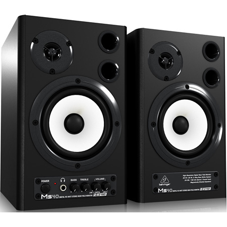 Behringer MS40 Digital Audio Monitor 24Bit/192 kHz Digital 40W Stereo Pair