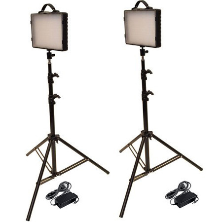 Bescor LED-200K Dimmable Studio Light Kit