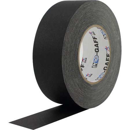 Pro Tapes 001UPCG255MBLA Pro Gaff Gaffers Tape BGT-60 2 Inch x 55 Yards - Black