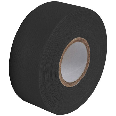 Pro Tapes 001G112MBLA112 Pro Gaff Gaffers Tape BGT1-12 1 Inch x 12 Yards Mini Roll - Black