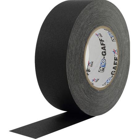 Pro Tapes BGT55-2-24 Pro Gaff Gaffers Tape BGT-60 2 Inch x 55 Yards - Black - 24 Pack