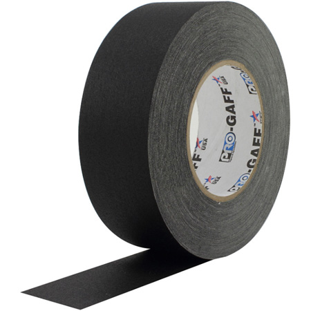 Pro Tapes BGT55-4-12 Pro Gaff Gaffers Tape BGT4-60 4 Inch x 55 Yards - Black - 12 Pack