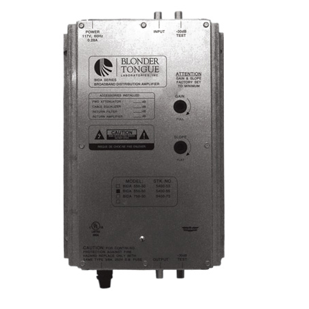 Blonder Tongue BIDA550-50 Broadband Indoor Distribution Amplifier 50DB