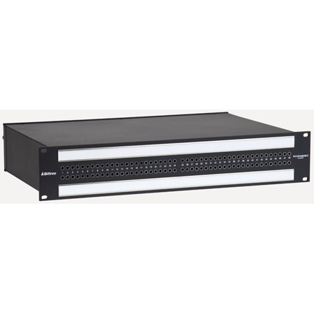 Bittree 968522A 2X48 2RU TT Patchbay Internally Selectable TRS Audio Punchdown Full Normal Looped 12 Inch Deep