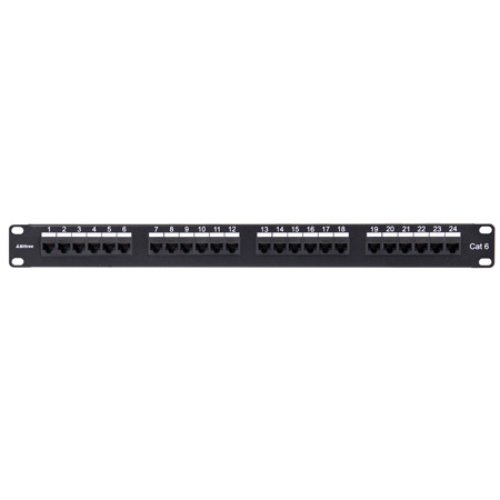 Bittree DSGIGE124D 1x24 1RU Cat6 RJ45 to 110 Punchdown Patch Panel
