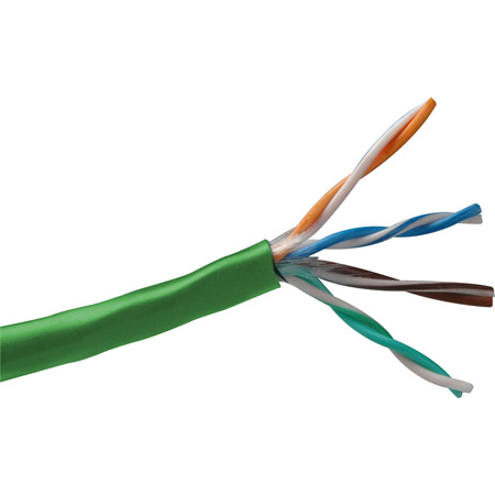 Belden 1583A 24 AWG CAT5e Non-Bonded Twisted Pair Cable - Green - 1000 Foot