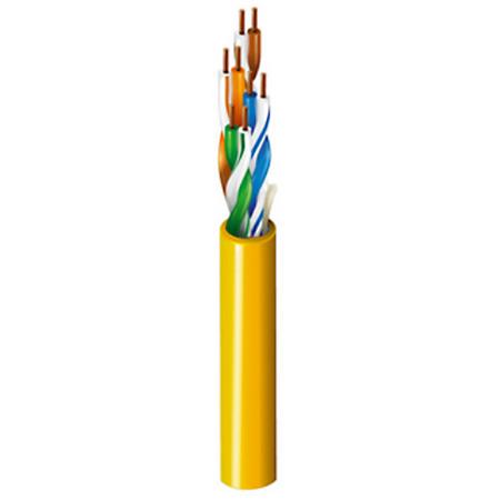 Belden 1592A DataTwist CAT-5e Patch U/UTP CM Unreel Box Cable - Yellow - 1000 Feet