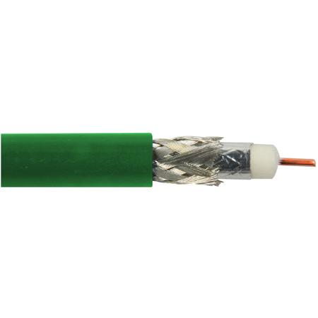 Belden 1694A N3U1000 CM Rated 3G-SDI RG6 Digital Coaxial Cable - Green - 1000 Foot