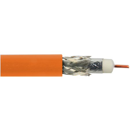 Belden 1694A 0031000 CM Rated 3G-SDI RG6 Digital Coaxial Cable - Orange - 1000 Foot