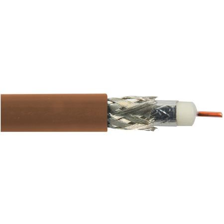 Belden 1694A 0011000 CM Rated 3G-SDI RG6 Digital Coaxial Cable  - Brown - 1000 Foot