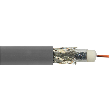 Belden 1694A 0081000 CM Rated 3G-SDI RG6 Digital Coaxial Cable - Grey - 1000 Foot