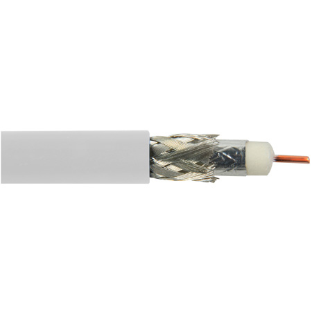 Belden 1694A 0091000 CM Rated 3G-SDI RG6 Digital Coaxial Cable - White - 1000 Foot
