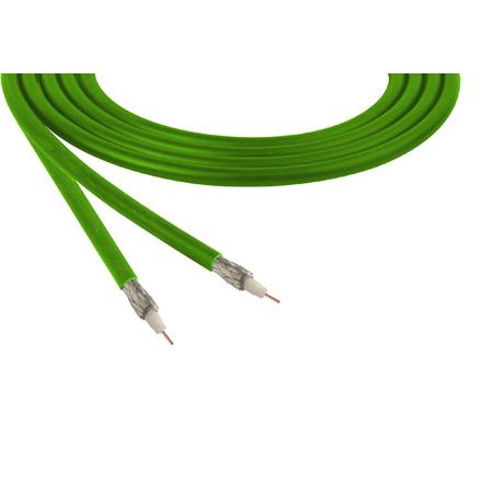 Belden 1855A Sub-Miniature RG59 SDI Digital Coaxial Cable 23 AWG - Green - 1000 Foot
