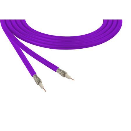 Belden 1855A Sub-Miniature RG59 SDI Digital Coaxial Cable 23 AWG - Violet - 1000 Foot