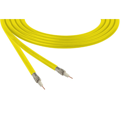 Belden 1855A Sub-Miniature RG59 SDI Digital Coaxial Cable 23 AWG - Yellow - 1000 Foot
