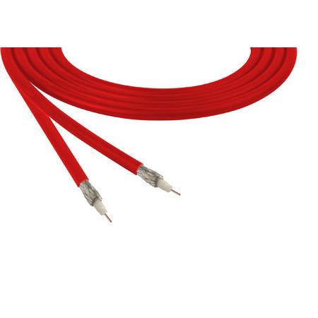 Belden 1855A Sub-Miniature RG59 SDI Digital Coaxial Cable 23 AWG - Red - Per Foot