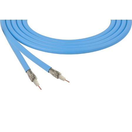 Belden 4855R 12G-SDI 75 Ohm 4K UHD Mini Coax Video Cable - Light Blue - 1000 Foot