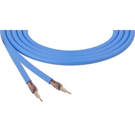 Belden 4855R 12G-SDI 75 Ohm 4K UHD Mini Coax Video Cable - Light Blue - Per Foot