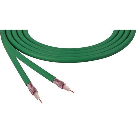 Belden 4855R 12G-SDI 75 Ohm 4K UHD Mini Coax Video Cable - Green - Per Foot