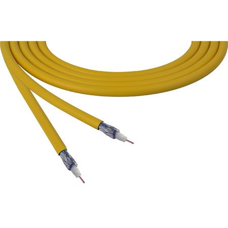 Belden 4855R 12G-SDI 75 Ohm 4K UHD Mini Coax Video Cable - Yellow - Per Foot